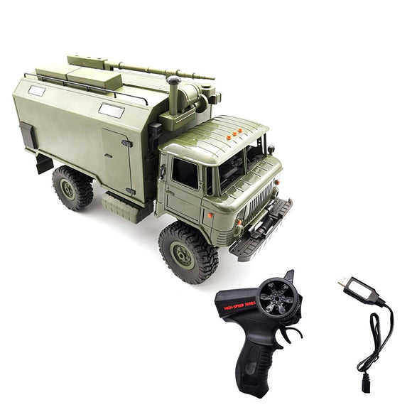 WPL B24 ZH 1/16 2.4G 4WD RC Truck  Military Truck Rock Crawler Command Communication Vehicle RTR Toy Auto Army Trucks vs WPL B36