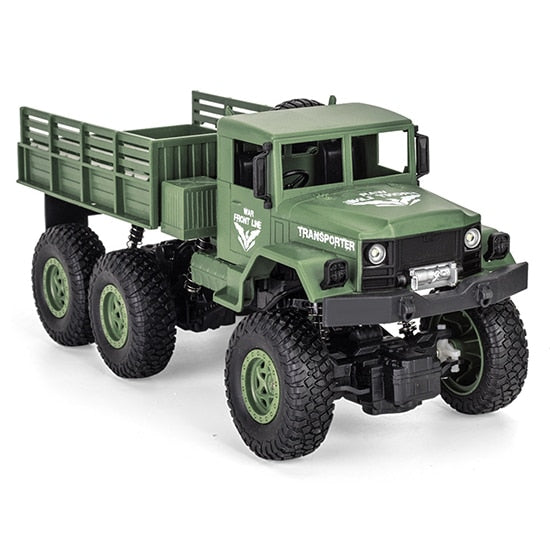 1/18 2.4G 6WD RC Military Truck Car 6 Wheel Remote Control Off-road Rock Crawler Truck Model Army Auto Trucks Boy Children Toys