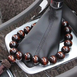 Wood Buddha Beads Car Rearview Mirror Hanging Pendant Interior Decoration Ornament Car Accessories