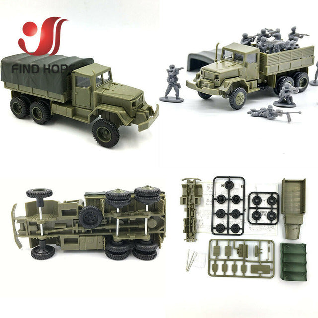 1:72 BTR-80 Armored Carrier M35 Cargo Truck M1046 KFZ.305 BLITZ Building Block Assembling Military Vehicles Model Army