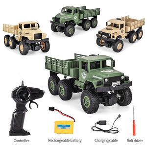 WD RC Truck Military Car 2.4G Radio Control RC High Speed Trucks Command Communication Vehicle Toy Auto Army Trucks Boy Toys