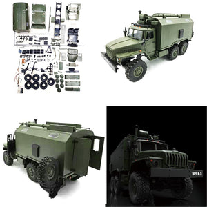 WPL B36 1:16 RC Car 2.4G 6WD Military Truck Rock Crawler Command Communication Vehicle  Body Shell Kit DIY Toys For Boys