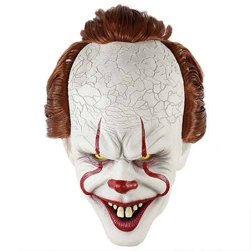 Clown Silicone Back Soul Mask Cos Head Set Halloween Horror Props Natural Latex Adult Code Hot Selling