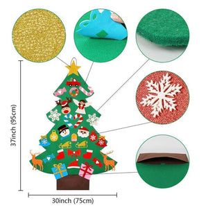 OurWarm New Year Gifts Kids DIY Felt Christmas Tree Decorations Christmas Gifts for 2018 New Year's Door Wall Hanging Ornaments