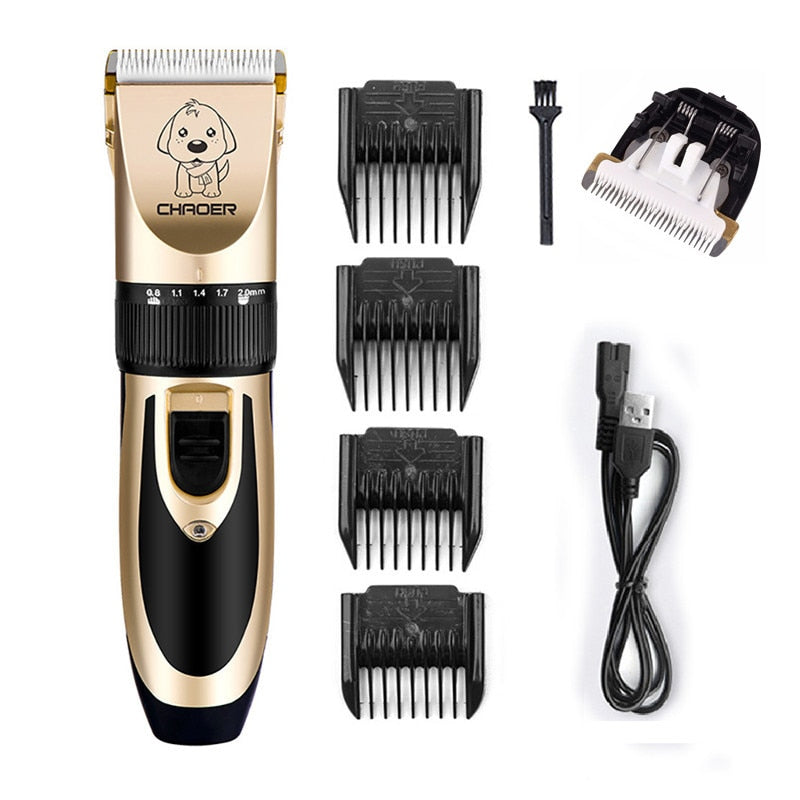 Rechargeable Low-noise Cat Dog Hair Trimmer Electrical Pet Hair Clipper Remover Cutter Grooming Pets Haircut Machine