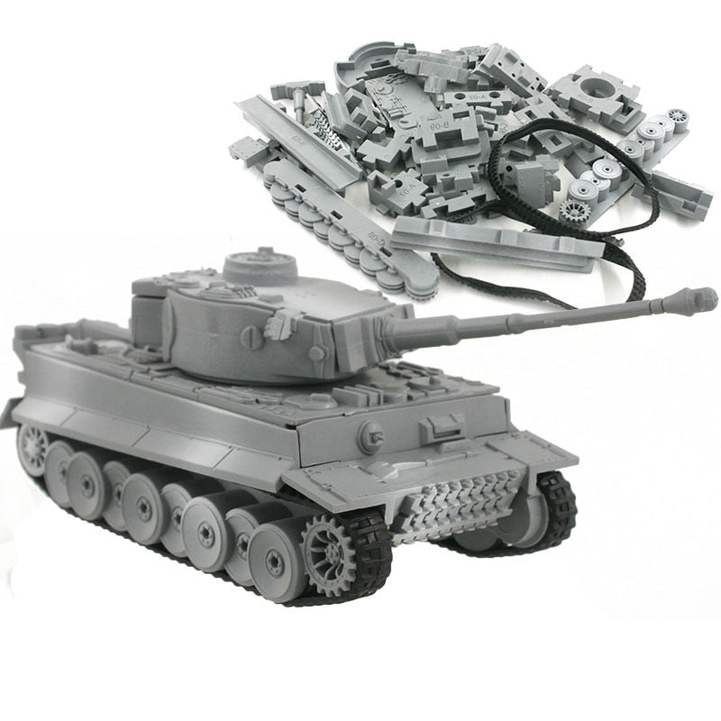 4D Model Building Kits Military Model Assembly Tiger Tank Panzerkampfwagen VI Educational Toys Collection High-density Material
