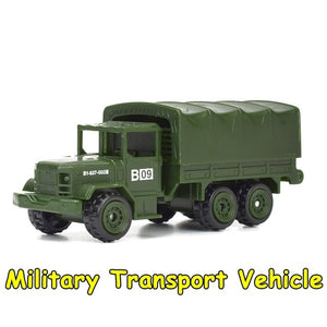 6 Styles Diecast Mini Military Vehicles Alloy Army Tank Model Toys for Children Plastic Gliding Car Truck Kids Toy Gifts for Boy