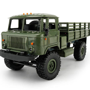 WPL B-24 GAZ-66 1:16 Remote Control Military Truck 4 Wheel Drive Off-Road RC Truck Model Remote Control Climbing Car RTR B24