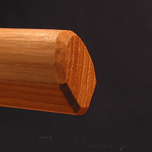 hand cut blunt point of the iwama bokken