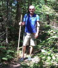 Load image into Gallery viewer, hiker with wooden staff