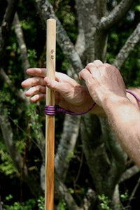 easy adjustment of hiking stick lanyard