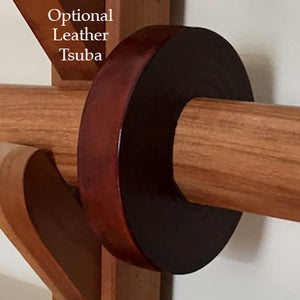 optional leather tsuba