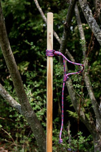 ajustable lanyard on hiking stick