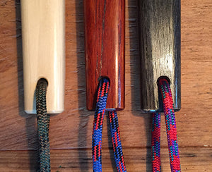 tessen lanyard color choices: green, blue and red