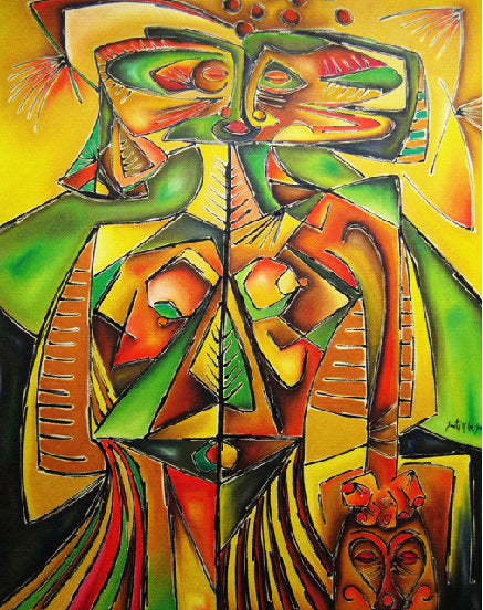 Latin Paintings for Sale - Arlequin II