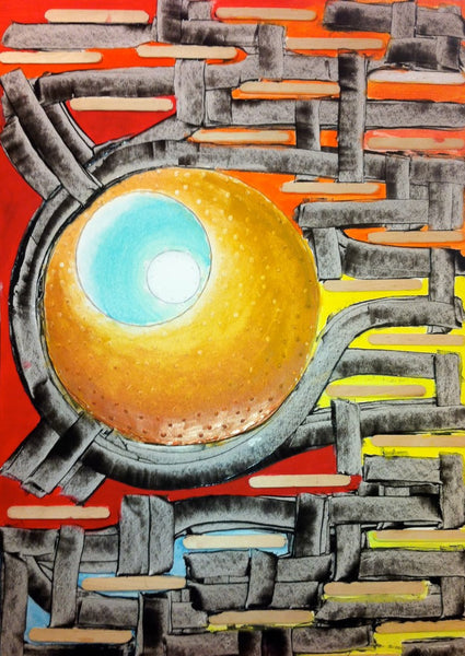 Latin Paintings for Sale - The Higgs Boson Bal