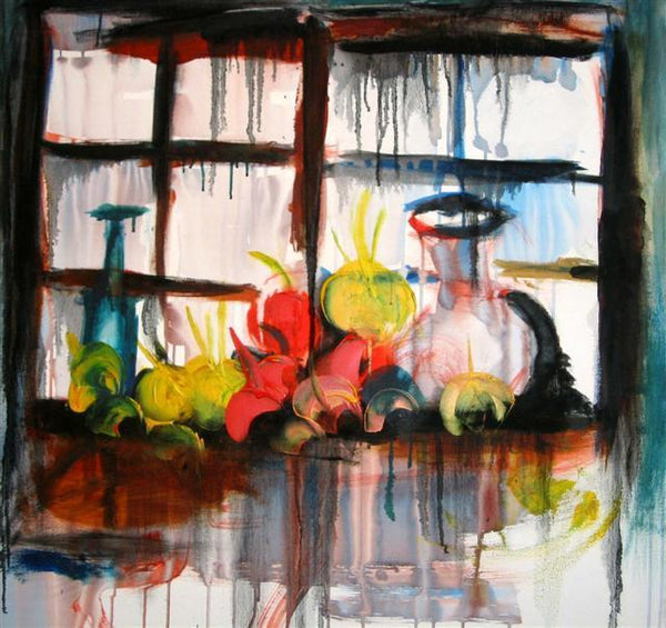 Latin Paintings for Sale - Through the Window