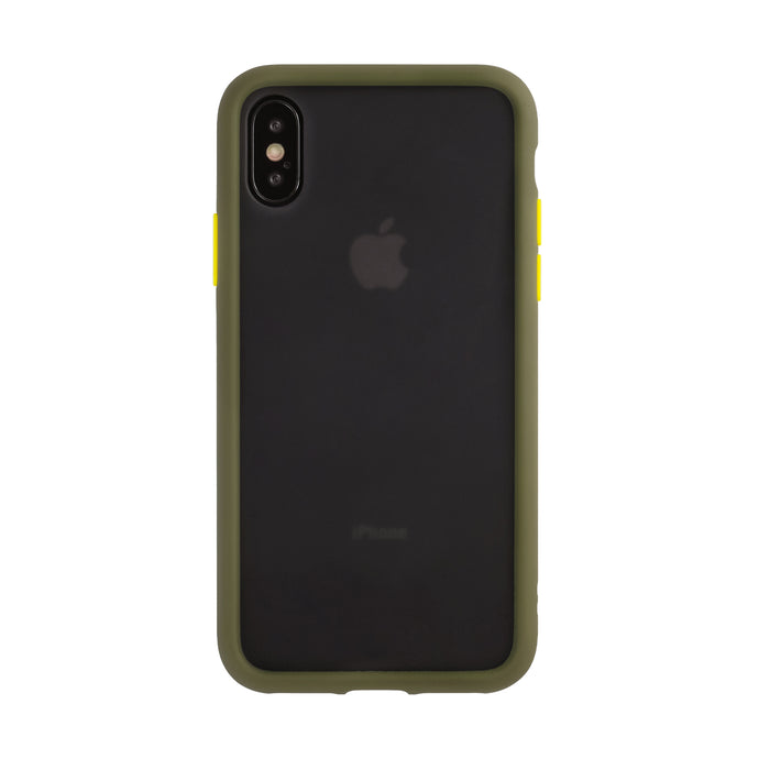 iPhone X/XS<br>着せ替えボタンの保護ケース<br><span>グリーン</span>