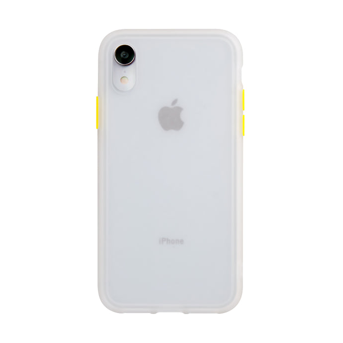 iPhone XR<br>着せ替えボタンの保護ケース<br><span>透明</span>