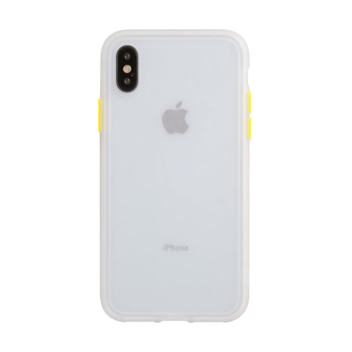 iPhone X/XS<br>着せ替えボタンの保護ケース<br><span>透明</span>