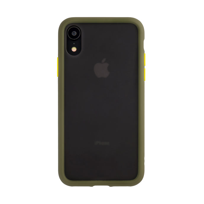 iPhone XR<br>着せ替えボタンの保護ケース<br><span>グリーン</span>