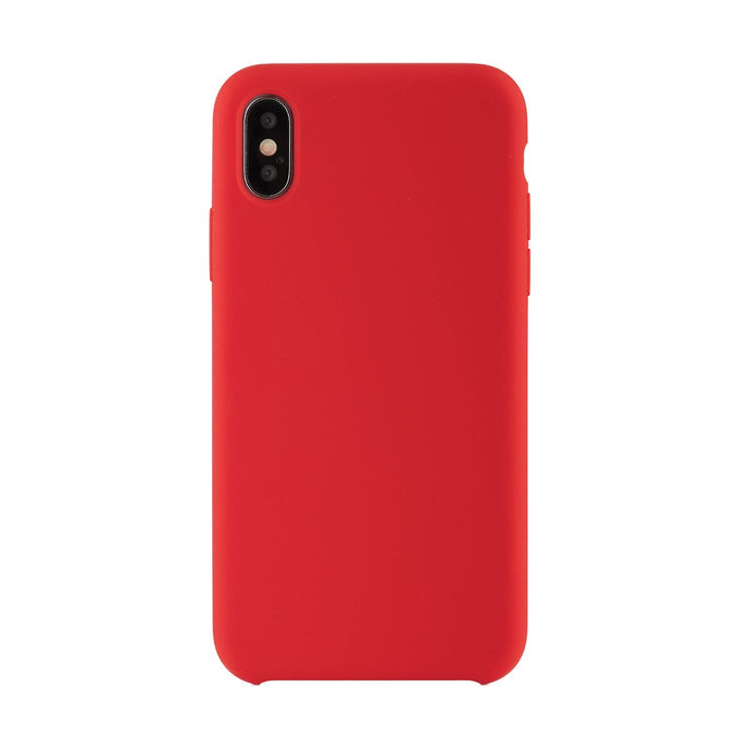 iPhone X<br>高品質シリコーンスマホケース<br><span>Red</span>