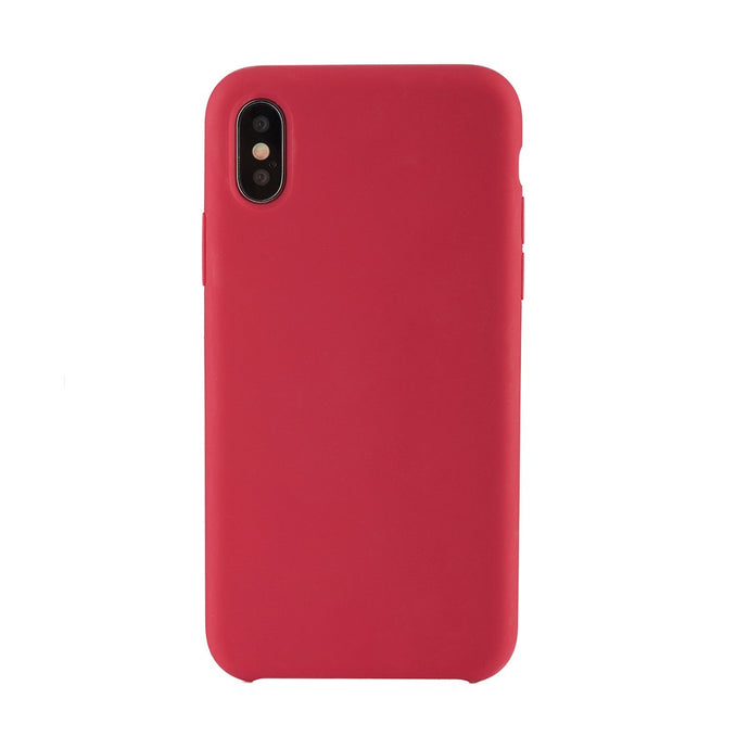 iPhone X<br>高品質シリコーンスマホケース<br><span>Rose Red</span>