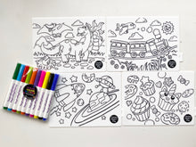 Load image into Gallery viewer, Mini Colouring Mats + Markers Set