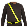 Adult Black webbing/Reflexite Motorcycling Sam Browne Belt