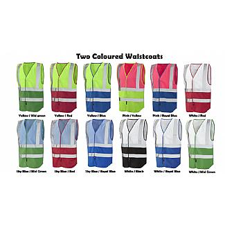 Dual Coloured Reflective Waistcoats