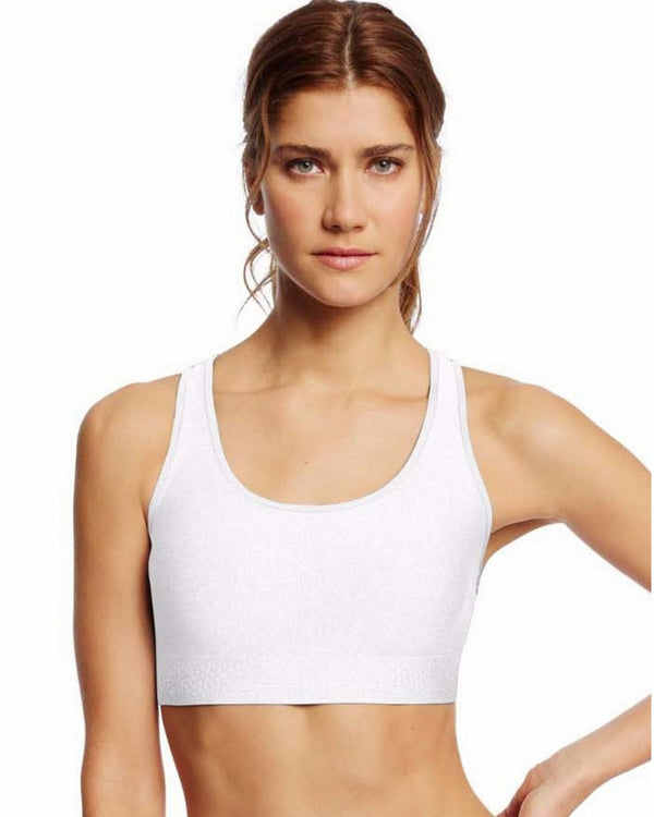 Champion Women's Absolute Shape Sports Bra with Smoothtec Band-B0822 White XL