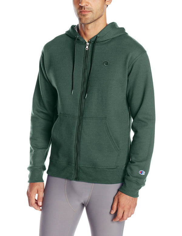 Champion Men's Power Blend Sweats Fleece Zip Hoodie Jacket S0891