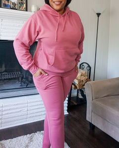 Rosy Oversized Hoodie Jogger Set