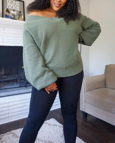 'Your Favorite' Fall Sweater (Olive)