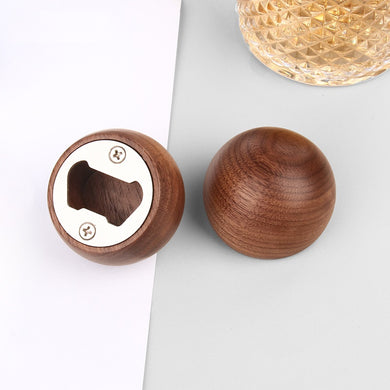 木圓。開瓶器  Wooden 304 Stainless Steel Bottle Opener-Round