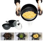 KingChef™ 2 in 1 Cooking Pot with Built-in Strainer