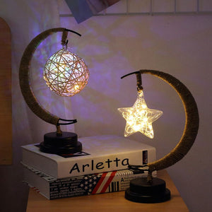 LED Night Lamp Moon and Star