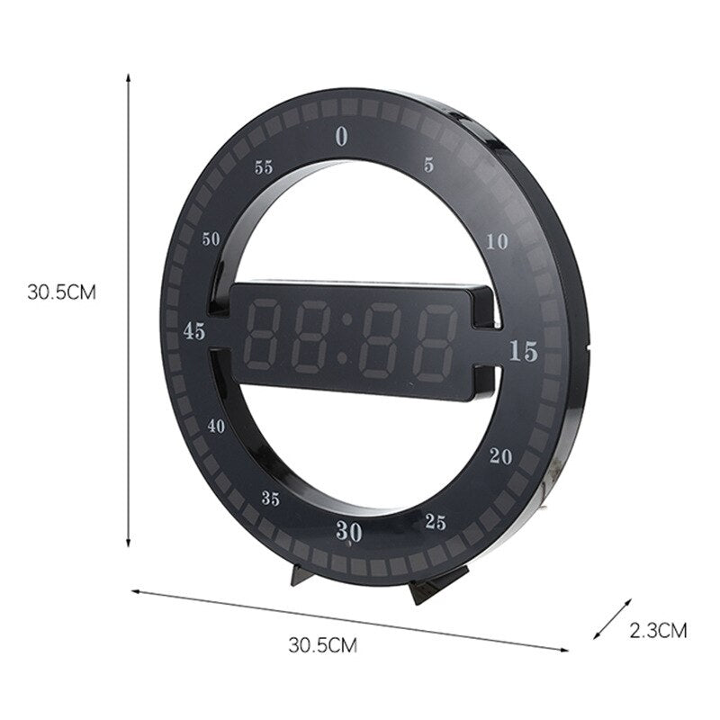 LED Ticking Wall Clock