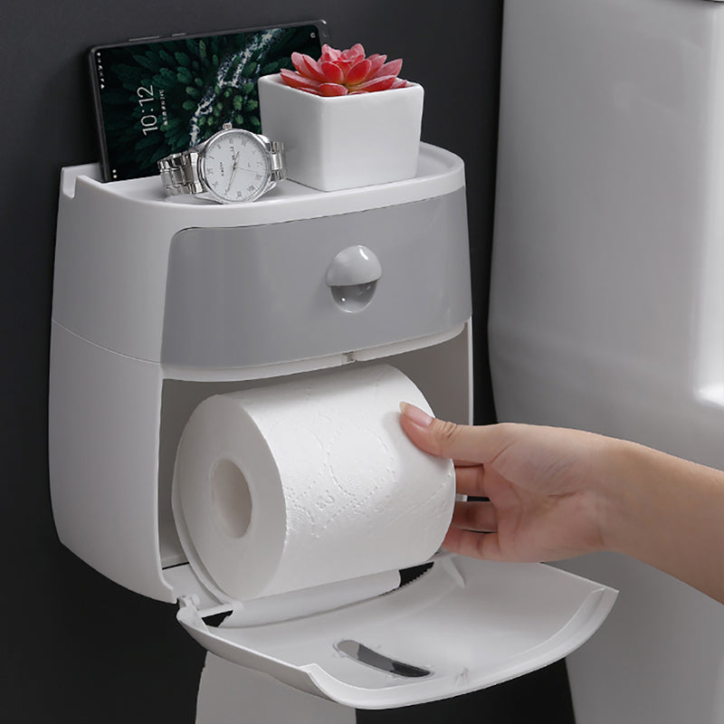 BathDispenser® Waterproof Toilet Paper Holder