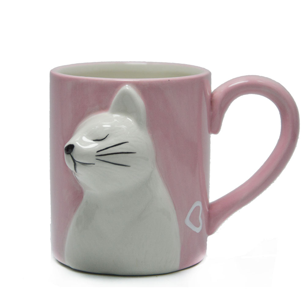 3D Kissing Cats 'His & Hers' Coffee Mug Set