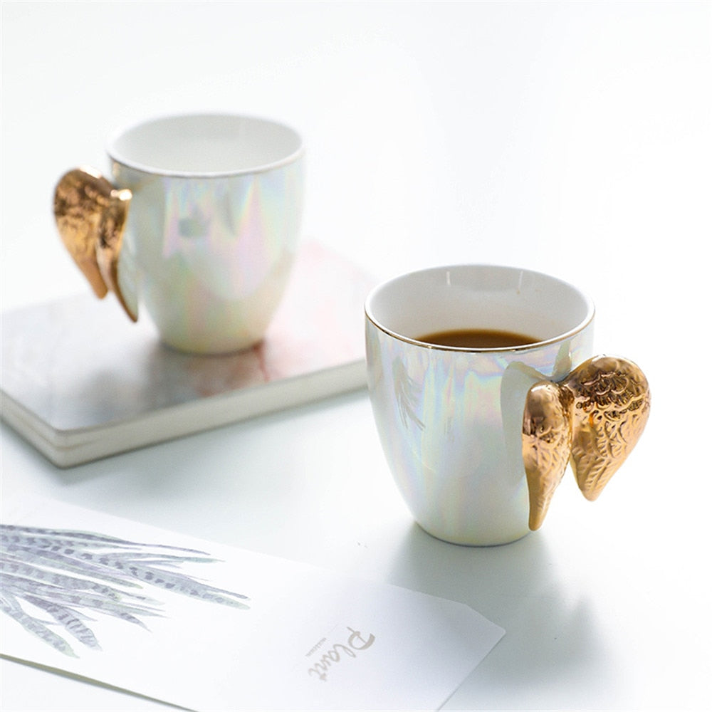 Porcelain Angel Wings Mug