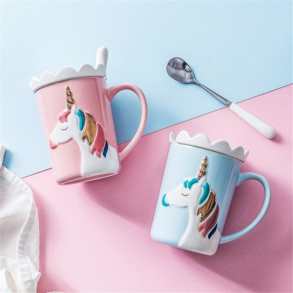 Embossed Unicorn Ceramic Mug