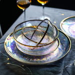 Iridescent & Gold Dinnerware