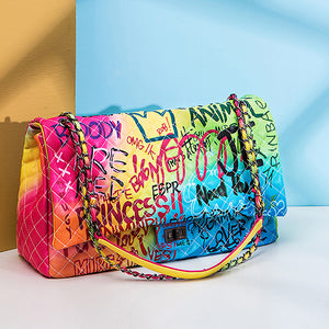 Graffiti Luxury Travel Bag for Women