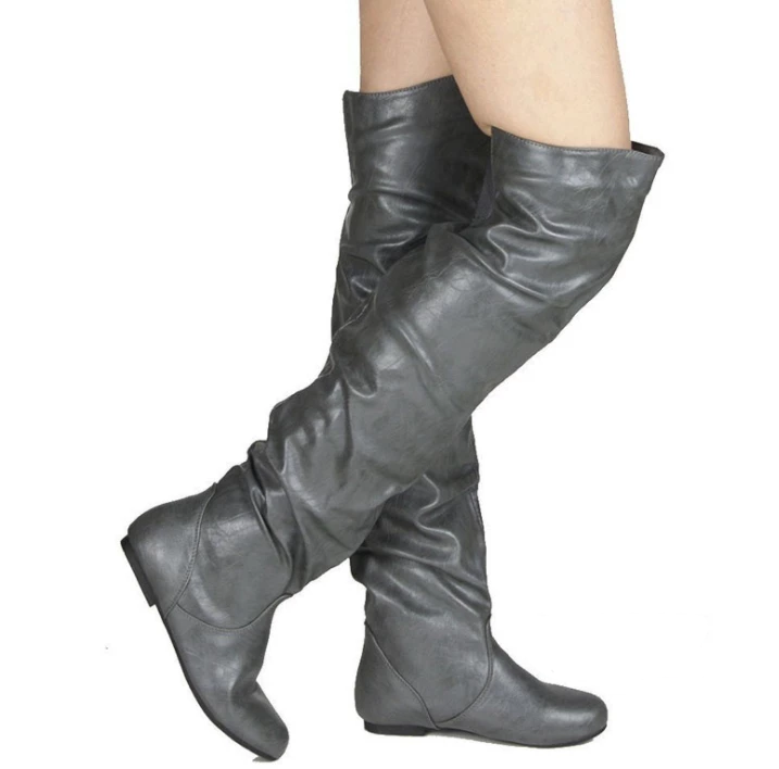 Nova Trends® Ruched Knee High Boots