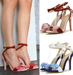 Nova Trends® Ribbon Strap Bow High Heels