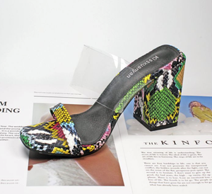 Nova Trends® Pop Art Snakeskin Slip-Ons