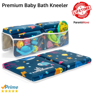 Bath Kneeler and Elbow Rest Pad Set for Baby Bathing by ParentsWave - ParentsWave