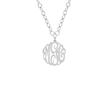 "Load image into Gallery viewer, Sterling Silver 5/8"" Monogram"