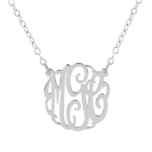 "Load image into Gallery viewer, Sterling Silver 1.5"" Monogram Split"